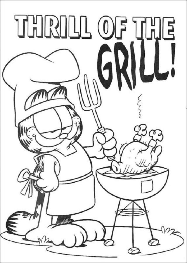Dibujos De Garfield Para Colorear Dibujos Para Colorear