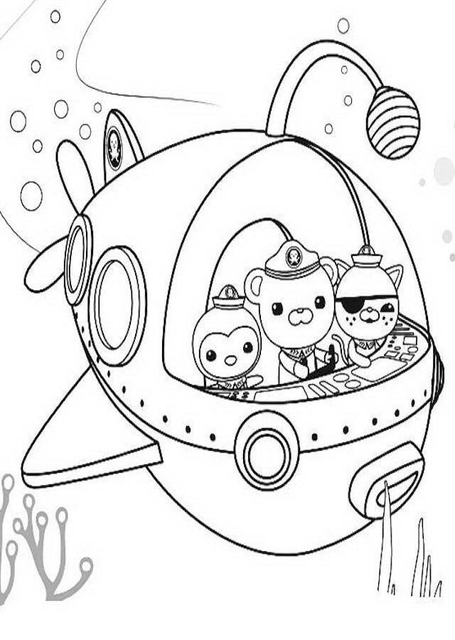 💠 Dibujos para colorear Los Octonautas ...