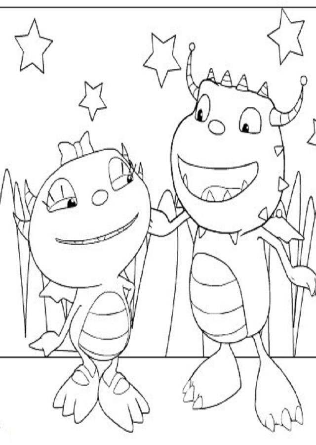 dibujos-de-henry-el-monstruo-feliz-para-imprimir - Dibujos para colorear