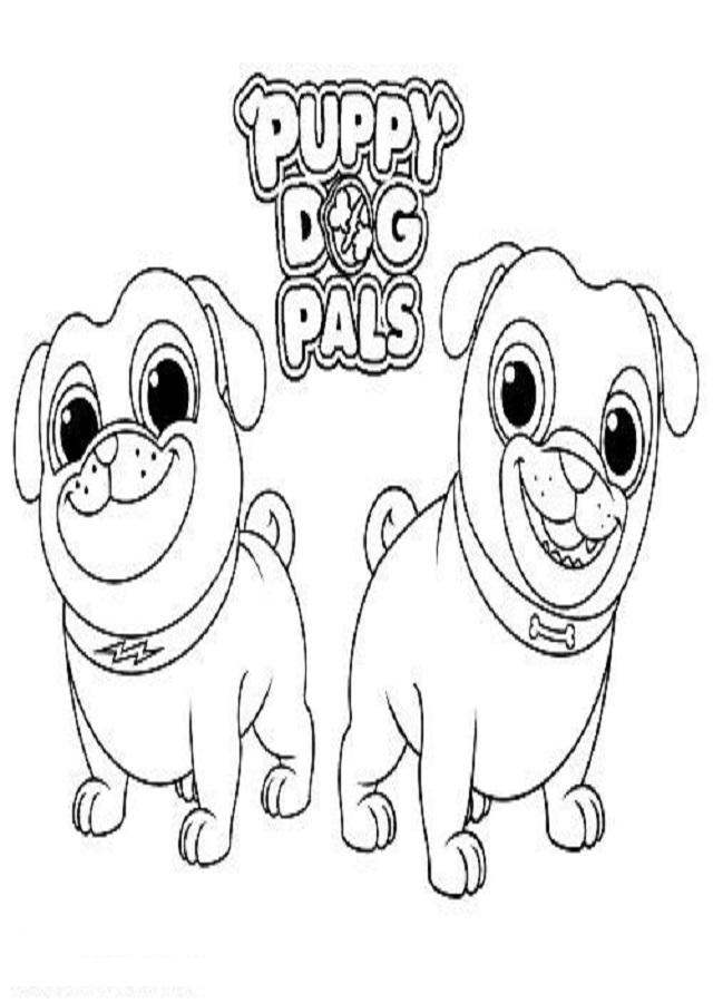 💠Dibujos para colorear Puppy Dog Pals - Dibujos para colorear