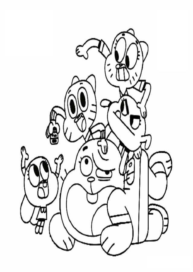 gumball-y-amigos - Dibujos para colorear