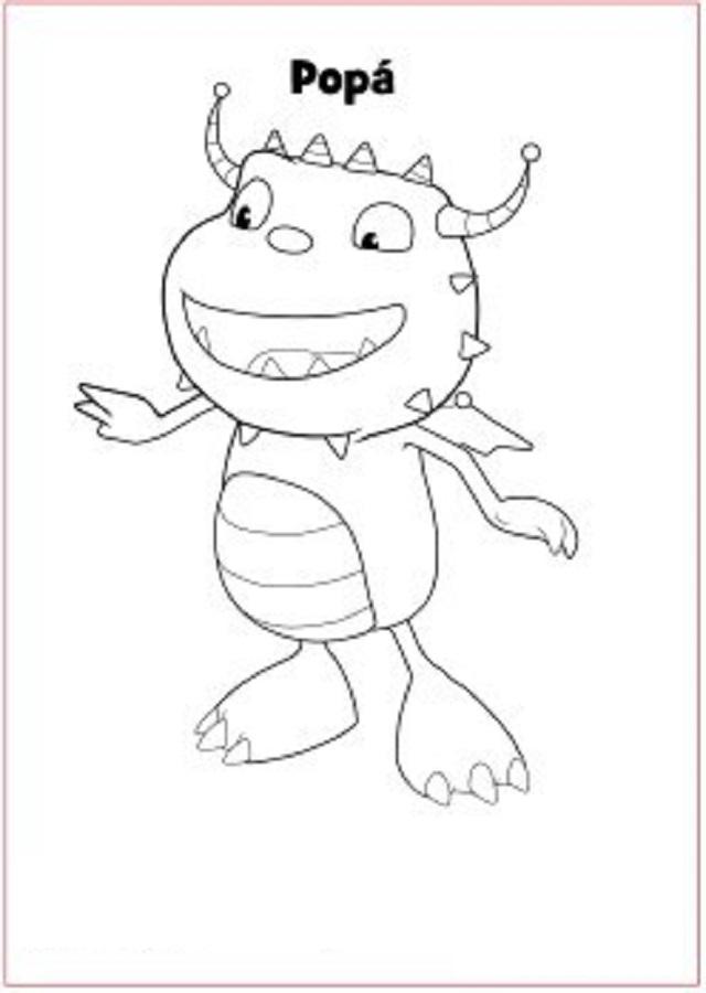 henry-el-monstruo-feliz-popa-imprime-y-colorea - Dibujos para colorear