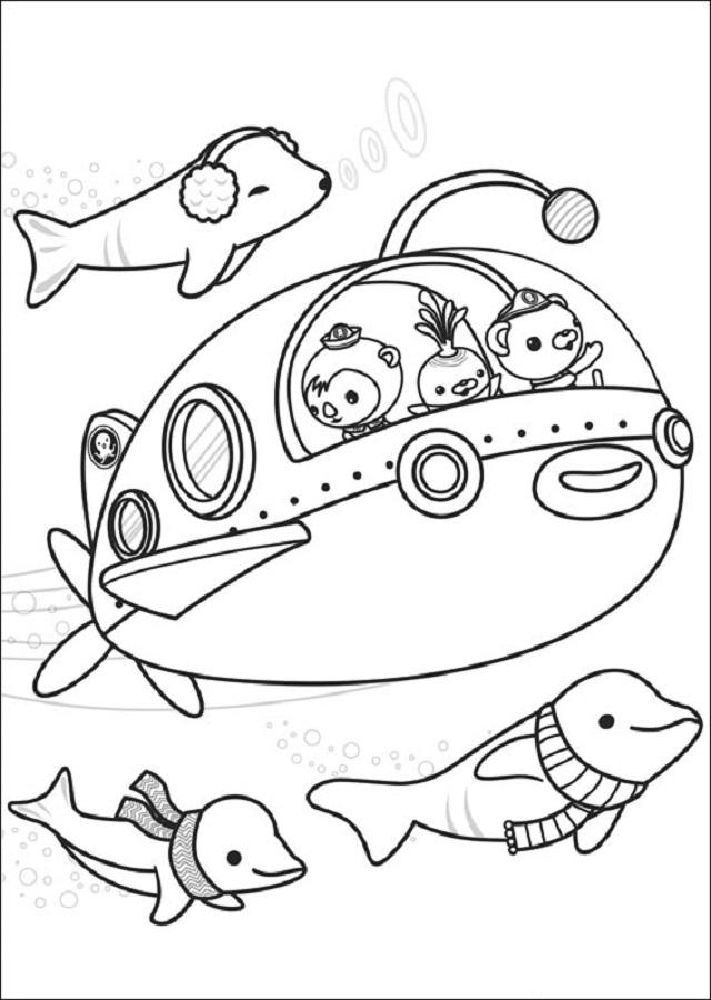💠Dibujos para colorear Los Octonautas - Dibujos para colorear
