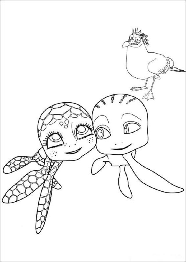 💠Dibujos para colorear Sammy y compañía - Dibujos para colorear