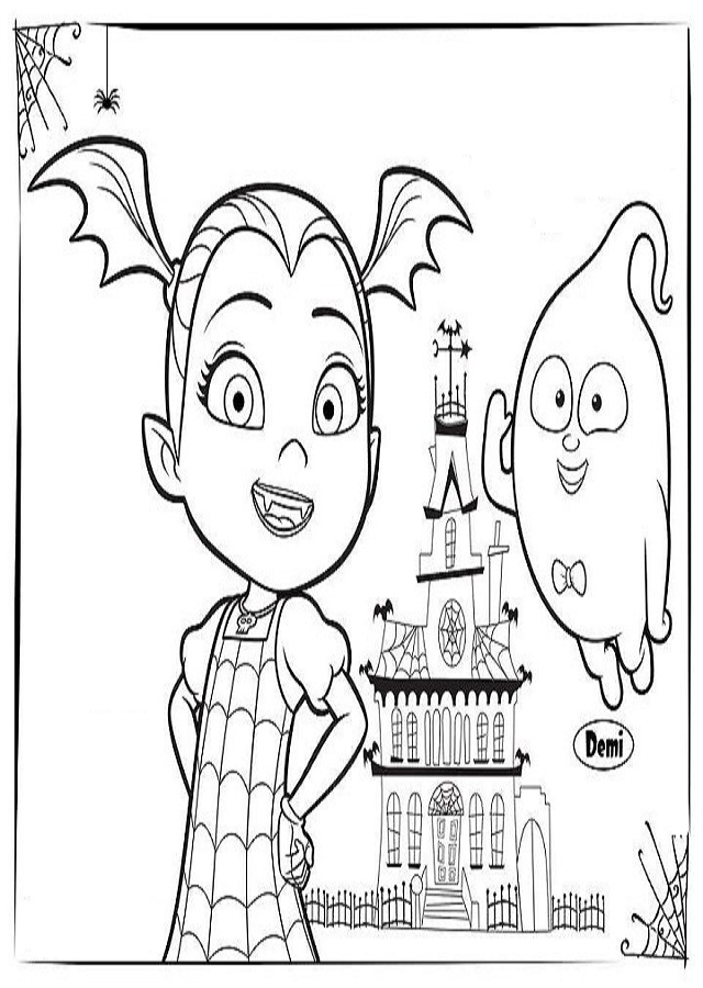 💠Dibujos para colorear Vampirina - Dibujos para colorear