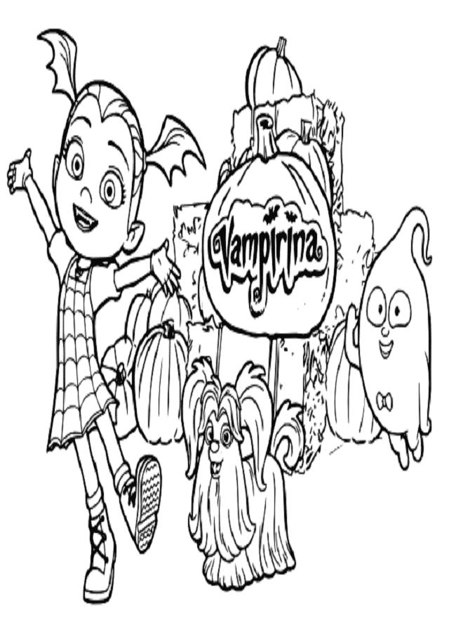 Dibujos Para Colorear Vampirina Dibujosparacolorear Eu