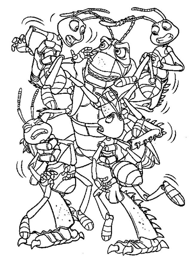 Imprimir gratis dibujos para colorear Bichos una aventura en ...