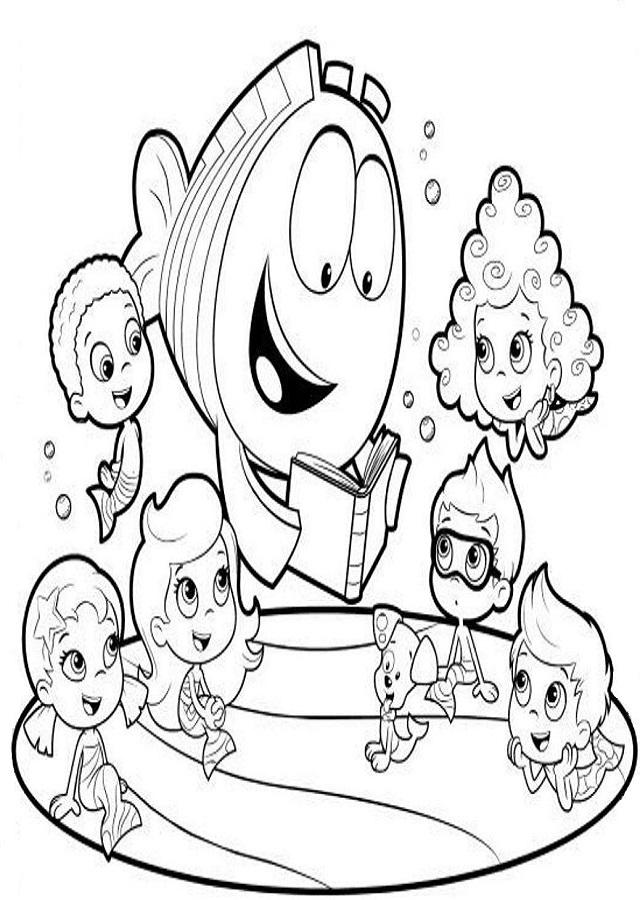 💠Dibujos para colorear Bubble Guppies - Dibujos para colorear