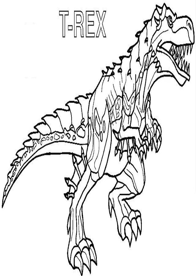 colorear-dinosaurios-dibujos-para-colorear-de-invizimals-t-rex-para ...