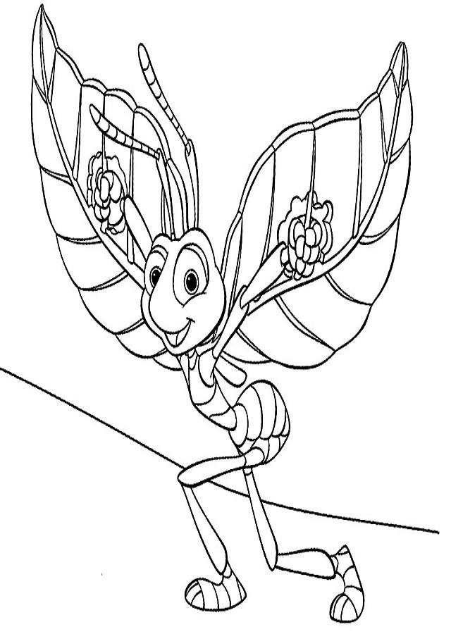 dibujo para colorear Bichos, una aventura en miniatura - Dibujos ...