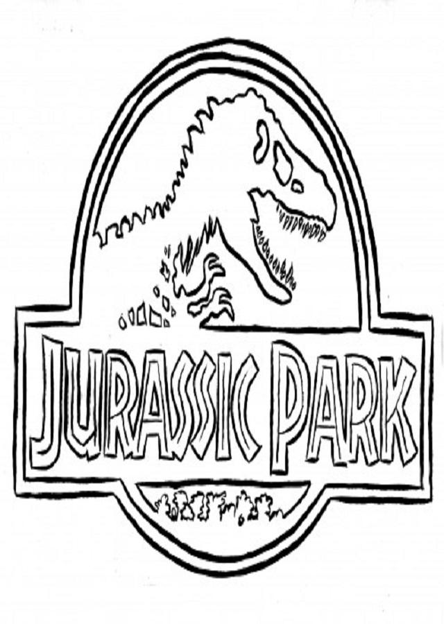 logo-jurassic-park - Dibujos para colorear