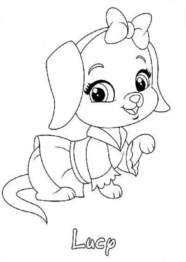 💠dibujos para colorear palace pets - Dibujos para colorear