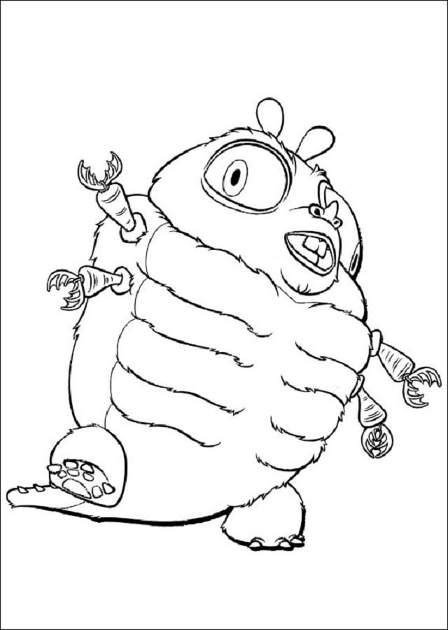Una larva que por efecto de la radiación, se volvió un insecto gigante de 105 metros de altura.