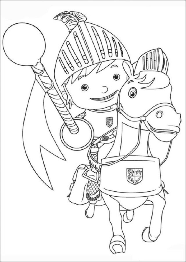 dibujos-para-colorear-Mike-el-Caballero - Dibujos para colorear