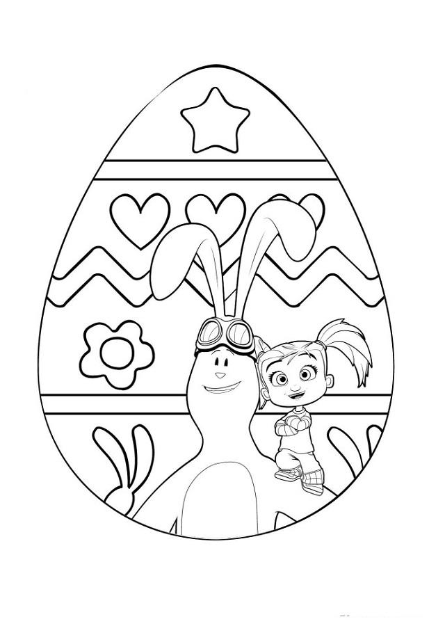 huevo-pascua-kate-y-mim-mim - Dibujos para colorear