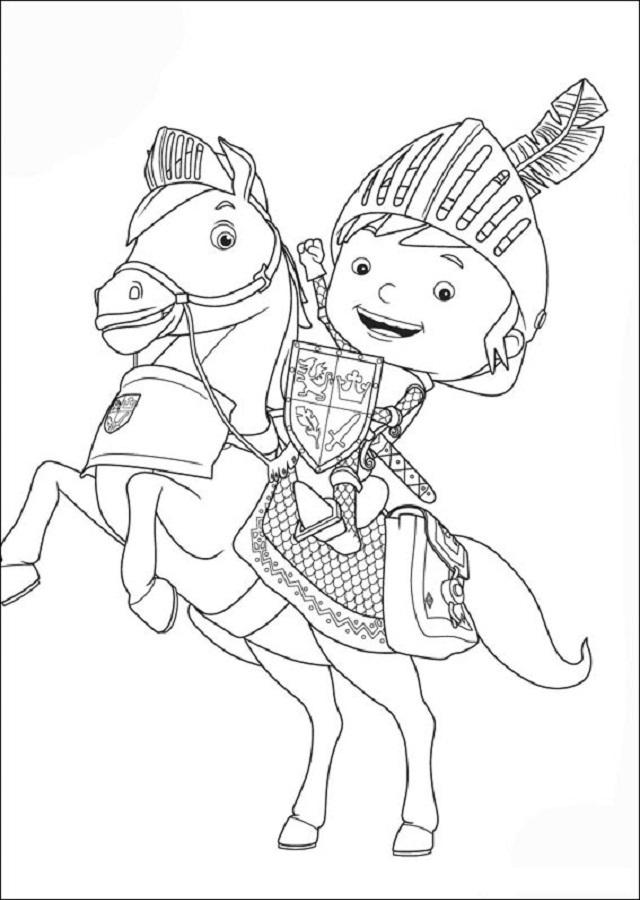 Galahad es el caballo inseparable y amigo fiel de Mike. Es marrón y de ojos castaños. Lleva un casco y decoraciones en azul y rojo. Su silla de montar es marrón.
