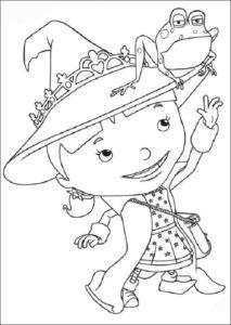 Mike El Caballero Hermana Evie Dibujos Para Colorear