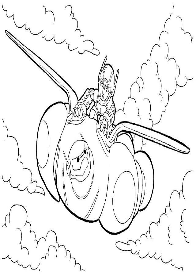 Dibujos-animados-para-colorear-Big-Hero-6 - Dibujos para colorear