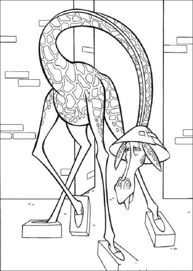 melman personaje pelicula madagascar es hipocondriaco ,caracter timido
