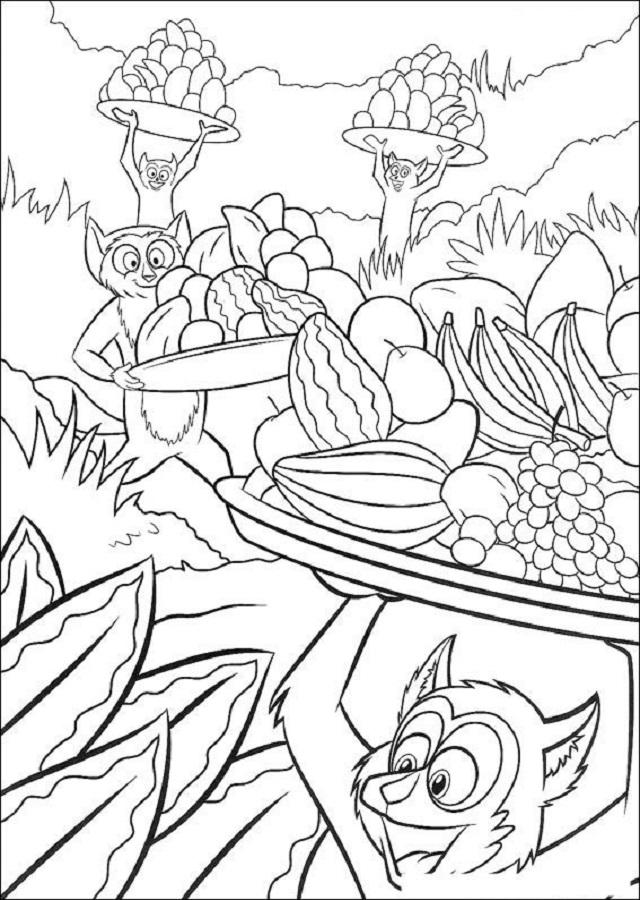 Rey julien dibujo pelicula madagascar