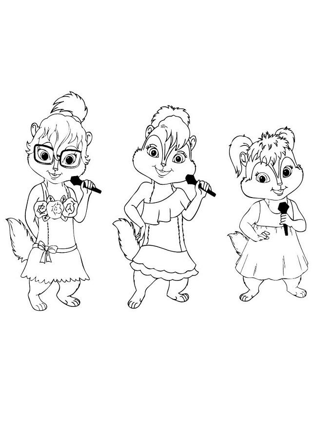 💠Dibujos Alvin y las Ardillas - Dibujos para colorear