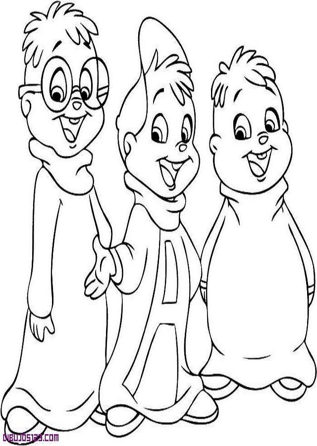 alvin-y-las-ardillas-para-colorear - Dibujos para colorear