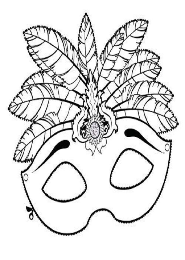 antifaz-carnaval - Dibujos para colorear