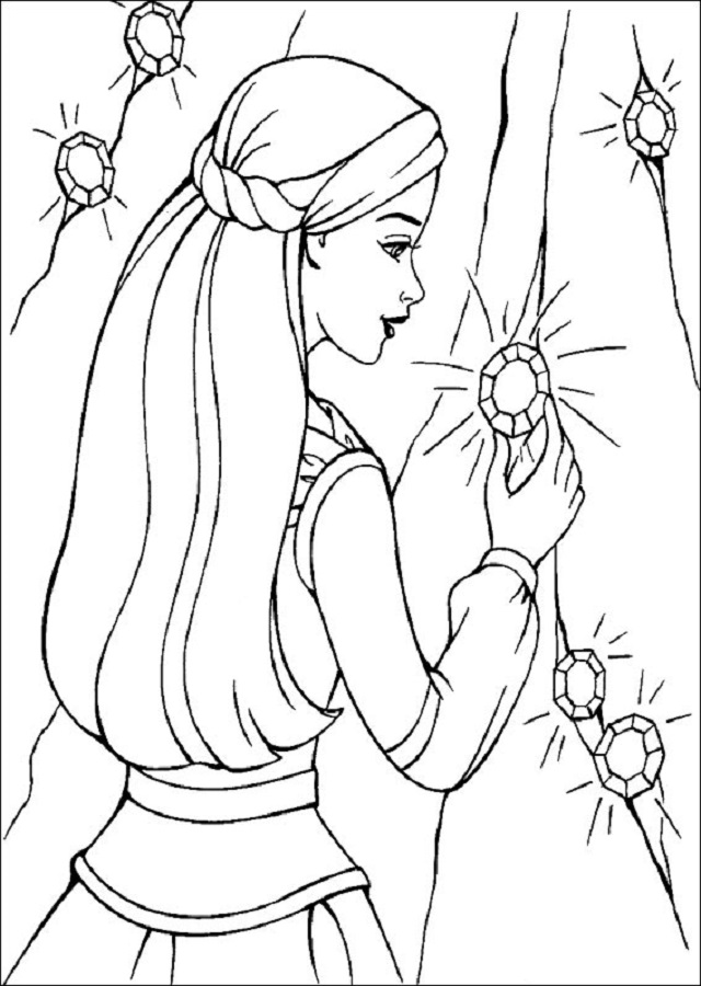 barbie-magia-pegaso-pintar-e-imprimir - Dibujos para colorear