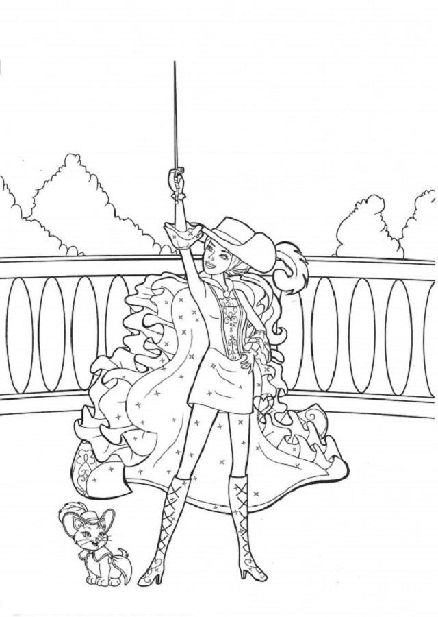 Dibujos Barbie Y Las Tres Mosqueteras Dibujos Para Colorear