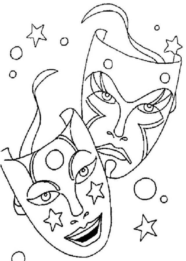 💠Dibujos para colorear Carnaval   Dibujos para colorear