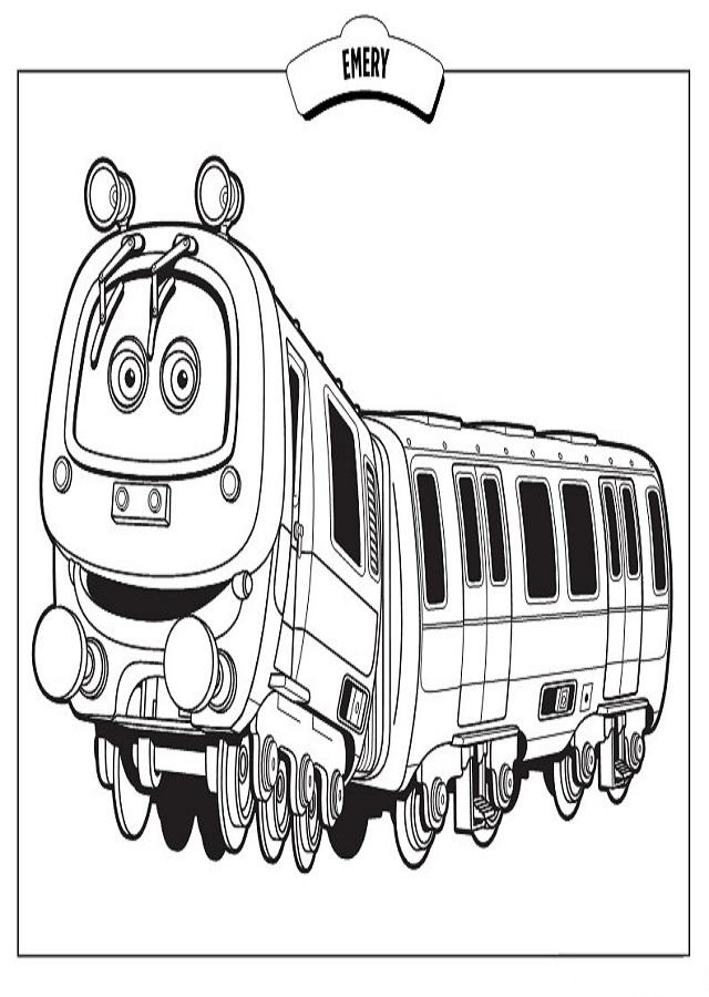 chuggington-tren - Dibujos para colorear