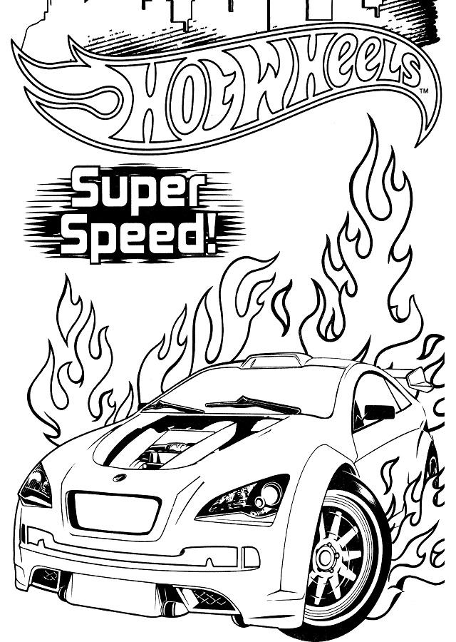 dibujo-coche-hot-wheels - Dibujos para colorear