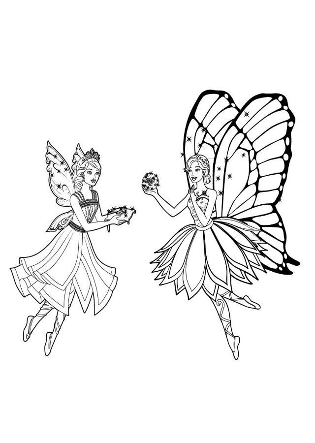 Dibujos barbie mariposa dibujos para colorear - Dibujos de hadas infantiles para imprimir ...