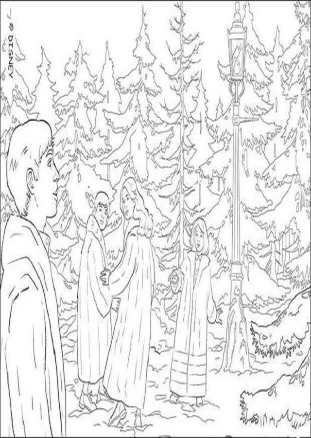 dibujo-para-colorear-escena-de-el-leon-la-bruja-y-el-armario ...
