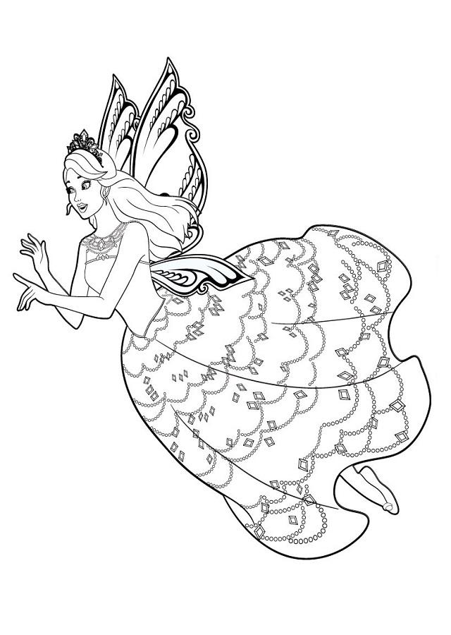 dibujos-de-barbie-mariposa-para-imprimir - Dibujos para colorear