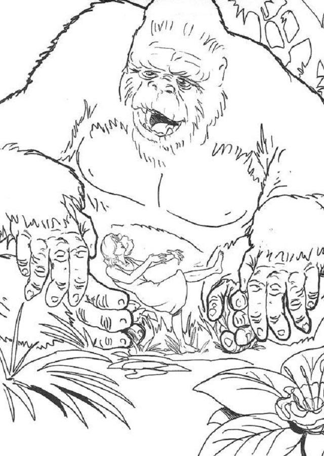 dibujos-king-kong - Dibujos para colorear