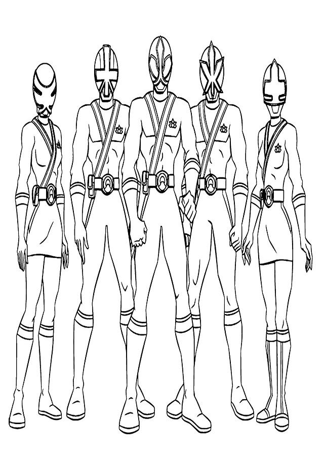 💠Dibujos para colorear Power Rangers - Dibujos para colorear