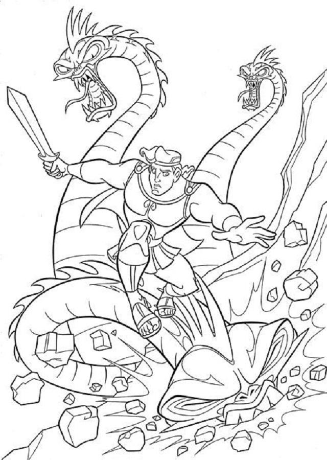 💠Dibujos para colorear Hércules - Dibujos para colorear
