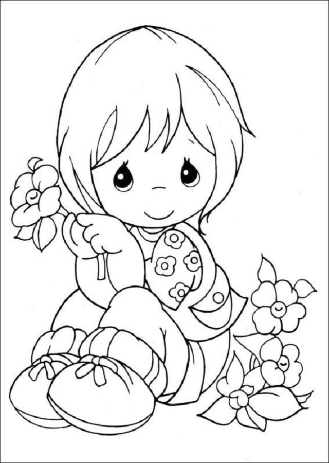 dibujos-para-pintar-preciosos-momentos - Dibujos para colorear