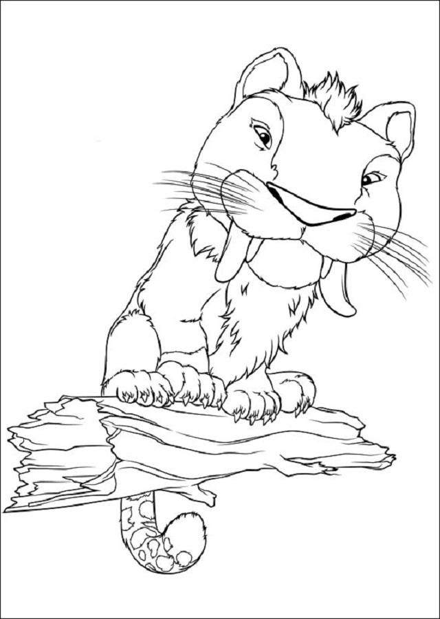 dibujo para colorear serie los croods
