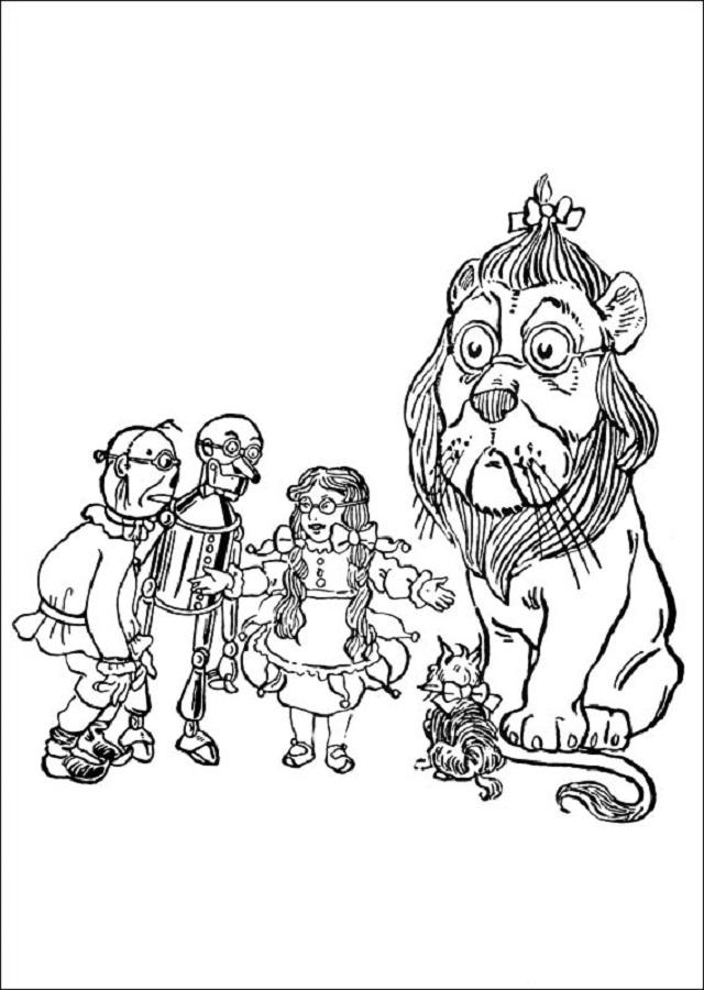 Dibujos para colorear el Mago de OZ - Dibujosparacolorear.eu