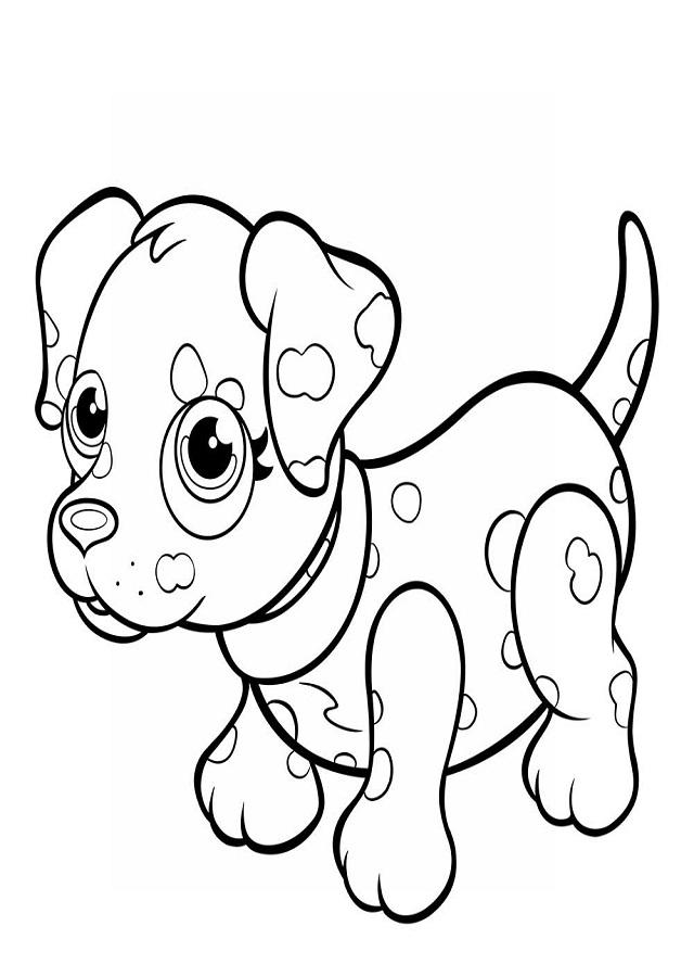 imagen para pintar micky cachorro dalmata