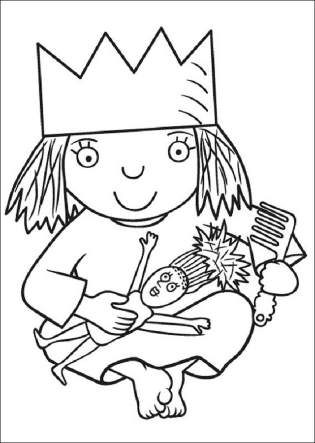pequeña-princesa-dibujos-para-pintar - Dibujos para colorear