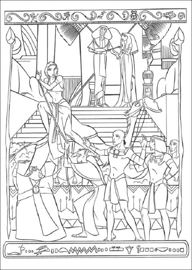 principe-egipto-colorear - Dibujos para colorear