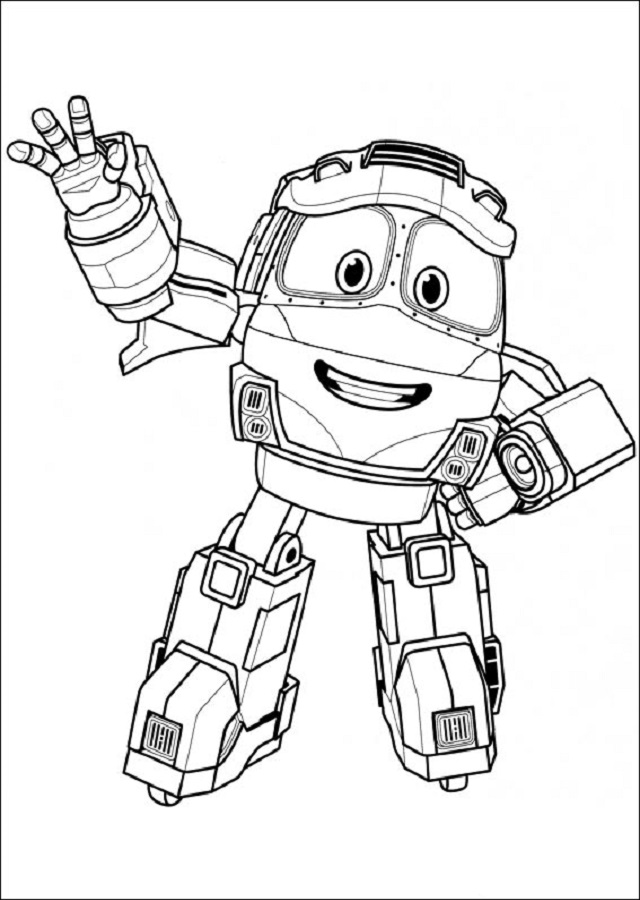 dibujo para colorear Kay robot train