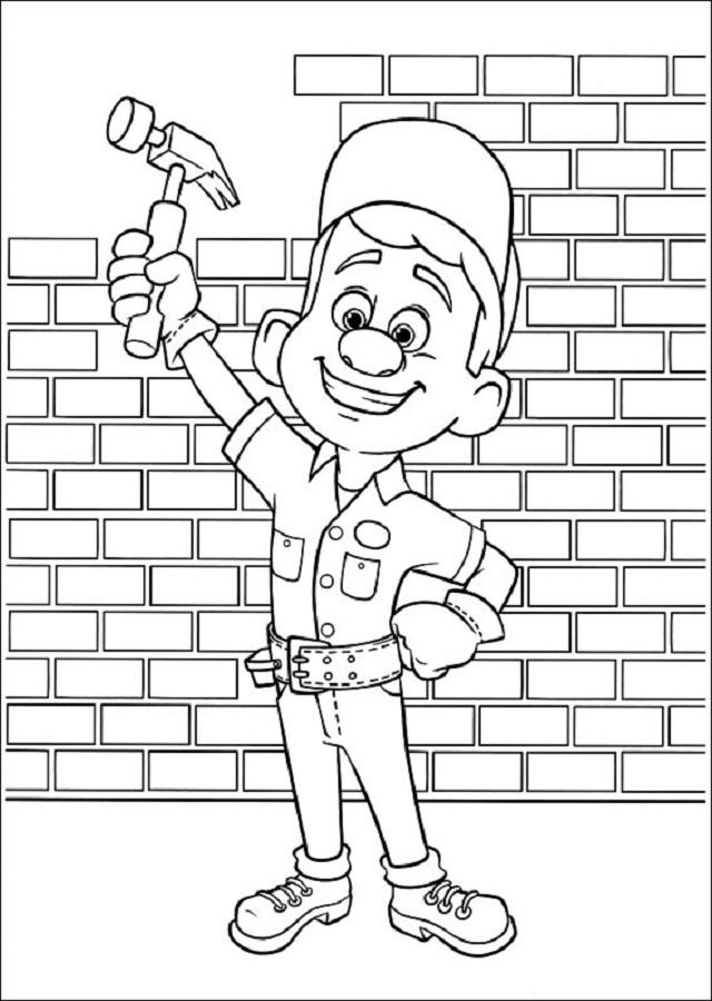 dibujo para colorear felix el reparador