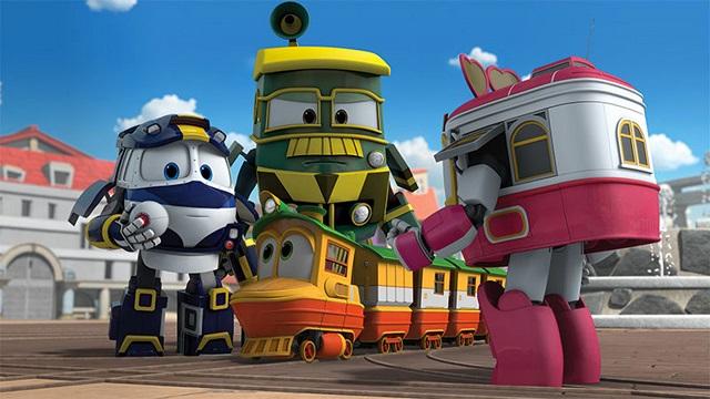 Robot Trains Dibujos Para Colorear