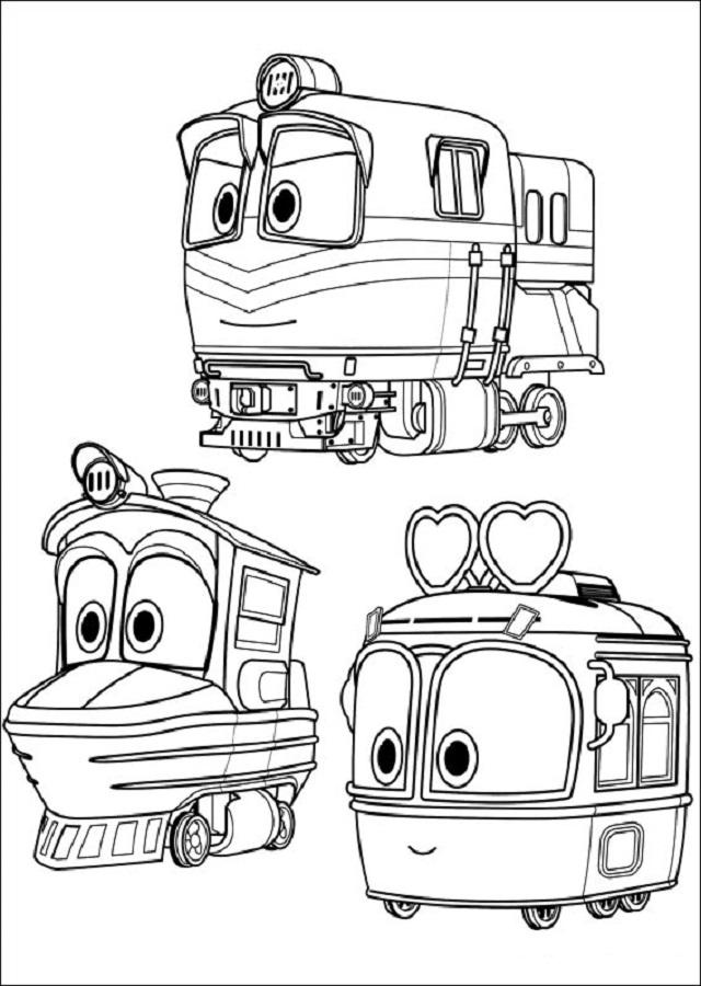 personajes para colorear robot trains