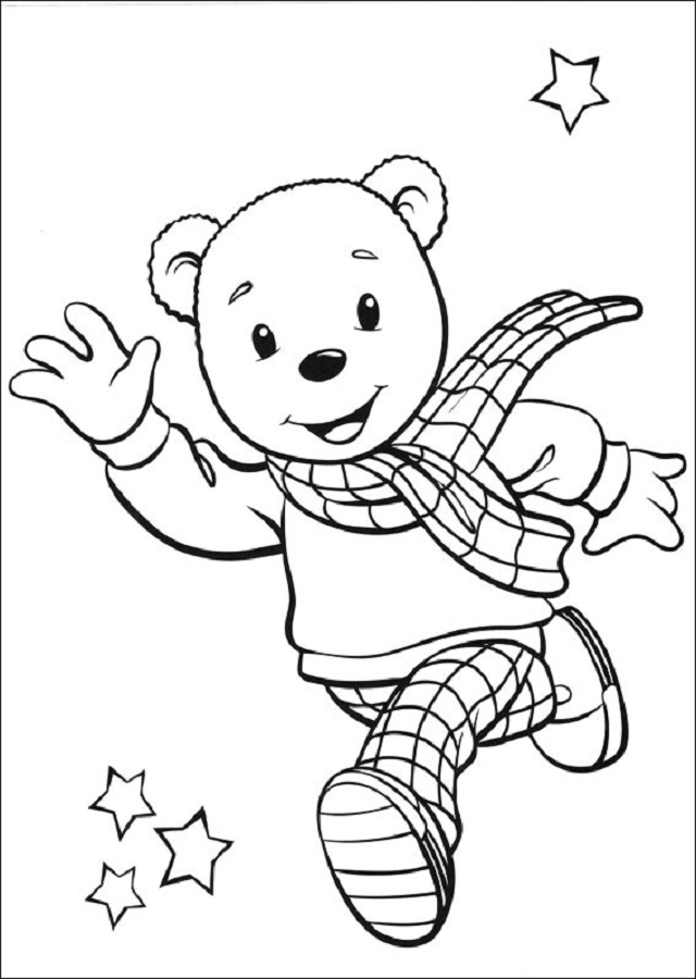 rupert-el-oso - Dibujos para colorear