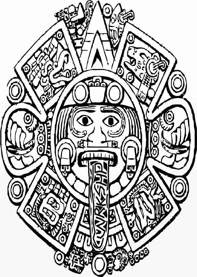 calendario-azteca-para-pintar